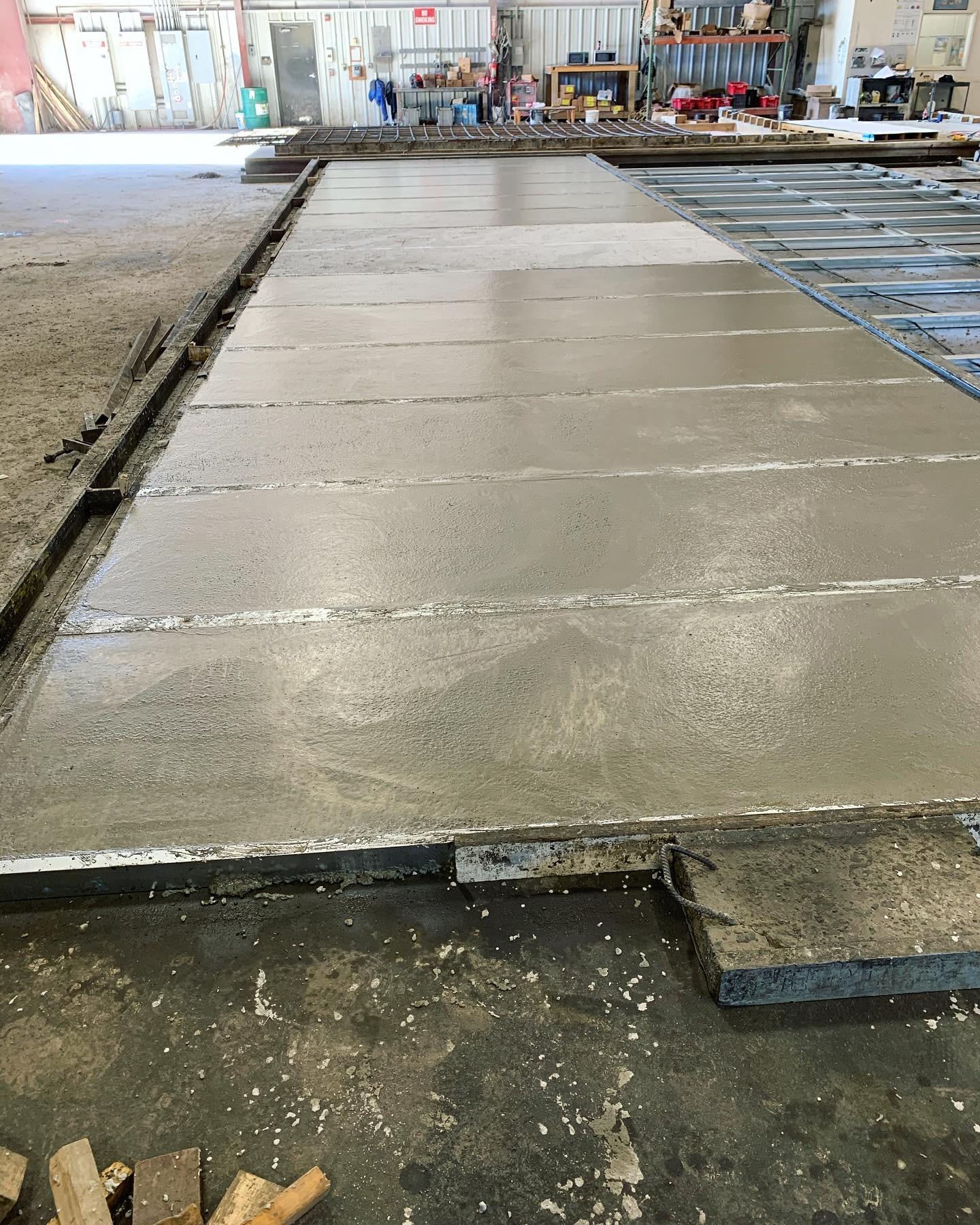 Precast concrete high-strength panels