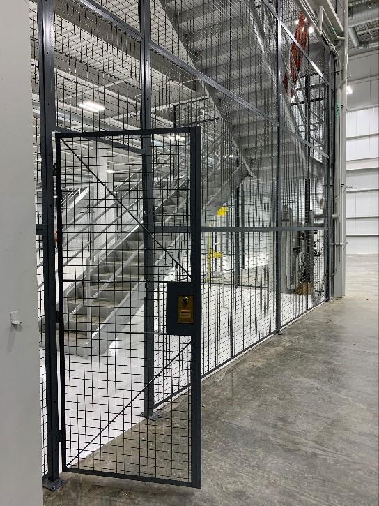 cage hinge door